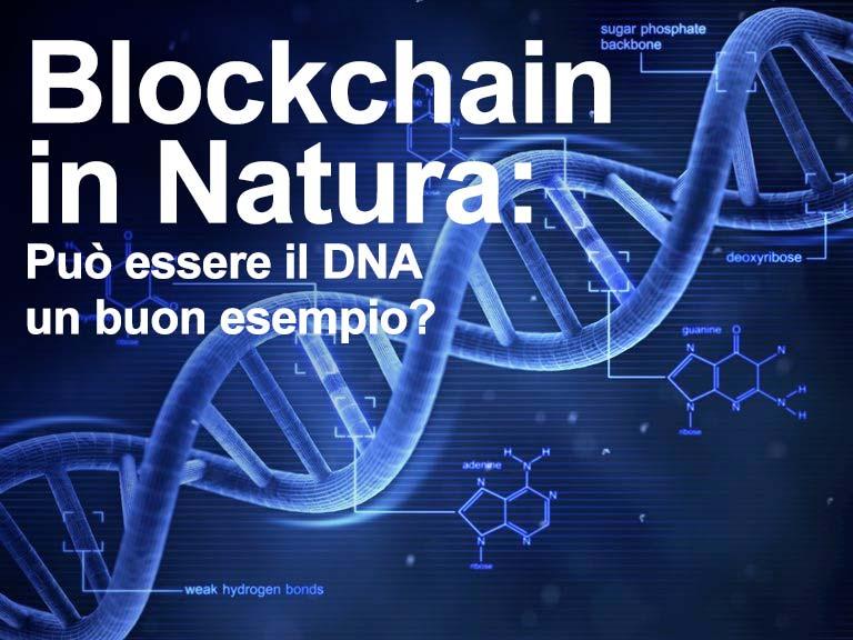 Blockchain in Natura: Può essere il DNA un buon esempio?
